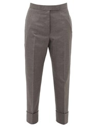 Thom Browne Tailored Wool Twill Trousers Grey