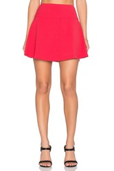 Red Valentino A Line Mini Skirt Red