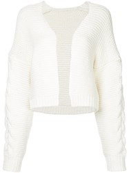 Cityshop V Neck Cardigan White