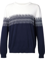 Band Of Outsiders Zig Zag Jacquard Sweater
