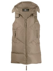 Luisa Cerano Quilted Hooded Gilet Green