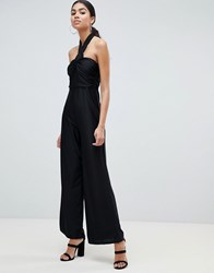 Ax Paris Twist Front Jumpsuit Black