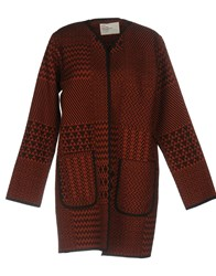 Leon And Harper Overcoats Brick Red