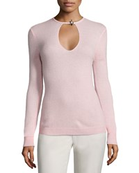 Halston Heritage Cashmere Long Sleeve Sweater Size X Small Lotus