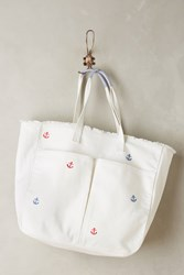 Anthropologie Little Anchor Tote White