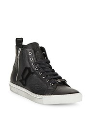 Galliano Lace Up High Top Sneakers Black