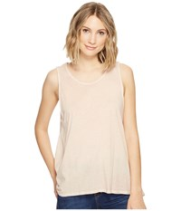 Project Social T Easy Rider Tank Top Oil Wash Cameo Rose Women's Sleeveless Beige