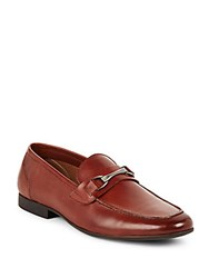 Saks Fifth Avenue Lucian Leather Penny Loafers Cognac