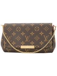 Louis Vuitton Vintage Eva 2Way Shoulder Bag Brown