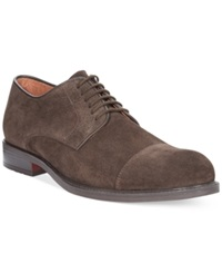 Alfani Cody Suede Cap Toe Oxfords Men's Shoes Brown