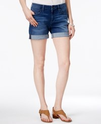 Tommy Hilfiger Cuffed Shorts Only At Macy's Canyon Blue