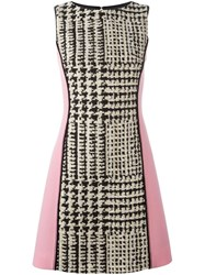 Fausto Puglisi Panelled Houndstooth Dress