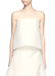 Dion Lee 'Surface' Strapless Virgin Wool Blend Bustier Top White
