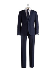 Strellson Two Piece Pinstriped Suit Navy