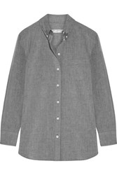 Equipment Margaux Cotton Chambray Shirt Gray