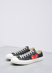 Comme Des Garcons Play 'S Play Converse Chuck Taylor Low Shoes In Black Size Us 6 Cotton Rubber