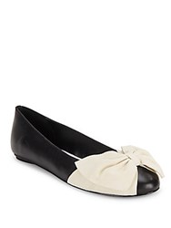 Alice Olivia Riley Round Toe Leather Flats Black