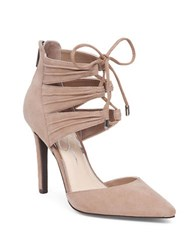 Jessica Simpson Caleya Kid Suede Leather Pumps Beige