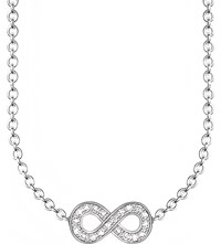 Thomas Sabo Glam And Soul Infinity Diamond Necklace Silver