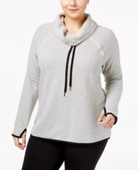 Ideology Plus Size Cowl Neck Top Only At Macy's Heather Grey