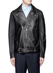 Acne Studios 'Nate' Lambskin Leather Jacket Black