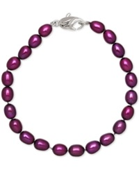 Honora Style Grape Cultured Freshwater Pearl Bracelet In Sterling Silver 7 8Mm