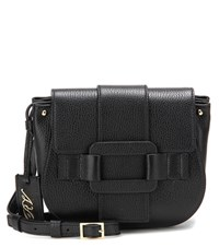 Roger Vivier Pilgrim De Jour Leather Crossbody Bag Black