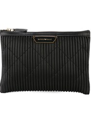 Emporio Armani Zipped Clutch Black