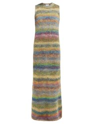 Raey Striped Hand Painted Knitted Dress Multi