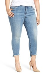 Kut From The Kloth Plus Size Women's Reese Stretch Uneven Hem Ankle Skinny Jeans