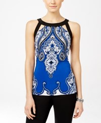 Inc International Concepts Printed Cutout Halter Top Only At Macy's Castle Garden