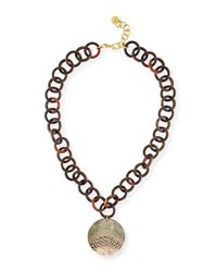 Nest Gray Mother Of Pearl Disc Necklace
