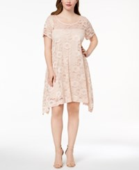 Robbie Bee Plus Size Lace A Line Dress Dusty Pink