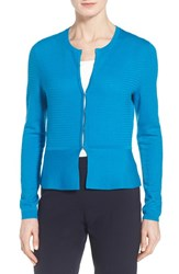 Women's Boss 'Fotini' Wool Peplum Cardigan