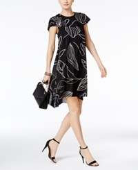 Alfani Prima High Low Cape Shift Dress Only At Macy's Black White