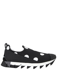 Dolce And Gabbana 30Mm Polka Dot Neoprene Slip On Sneakers
