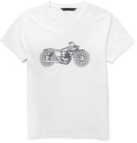 Marc By Marc Jacobs Motorcycle Embroidered Cotton Jersey T Shirt White