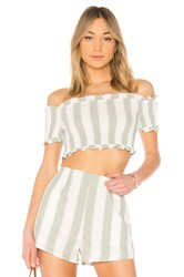 The Fifth Label Poetic Stripe Top White