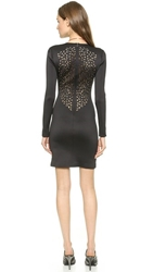 Clover Canyon Laser Cut Back Dress Black
