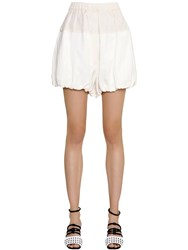 Sportmax Puffed Viscose And Linen Shorts