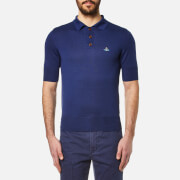 Vivienne Westwood Man Men's Classic Knitted Polo Shirt Blue
