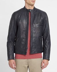 Levi's Midnight Blue Leather Biker Jacket