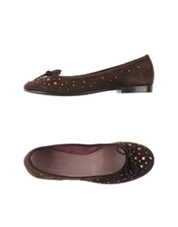 Zanfrini Cantu Footwear Ballet Flats Women Dark Brown