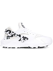 Nike Air Huarache Sneakers Women Calf Leather Polyester Rubber 9.5 White