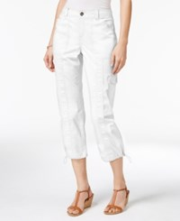 Styleandco. Style Co. Petite Bungee Hem Cargo Capri Pants Only At Macy's Bright White