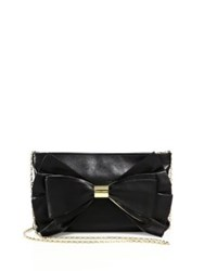 Judith Leiber Sutton Leather Bow Clutch Black