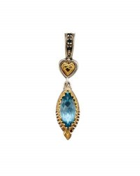 Konstantino Amphitrite Marquise Topaz And Spinel Pendant Enhancer Blue