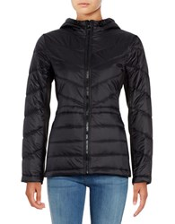 Guess Hooded Packable Puffer Coat Black