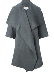 Michael Michael Kors Oversized Draped Coat Grey