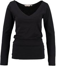 Garcia Cotton V Neck Top Black